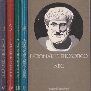 DICIONÁRIO FILOSÓFICO – 5 Vols. * Dir.  M. M. Rosental e P. F. Iudin   1972