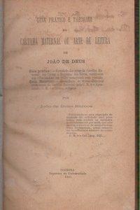 GUIA PRÁTICO E THEORICO DA CARTILHA MATERNAL OU ARTE DE LEITURA DE JOÃO DE DEUS *  João de Deus Ramos   1901