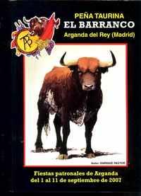 PEÑA TAURINA EL BARRANCO – Arganda del Rey (Madrid) – Enrique Pastor