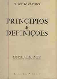 PRINCÍPIOS E DEFINIÇÕES   Marcello Caetano     1969